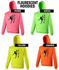 Dancing Hoody DANCEWEAR TOP Electric Pink Green Orange Yellow PERSONALISED FREE
