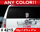 "SAN FRANCISCO GIANTS ""SF"" DECAL STICKER 6""h x 4""w 4215  ANY 1 COLOR on Ebay"