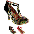Womens Irregular Choice Bloxy T-Bar Bow Buckle High Heel Court Shoes UK 3.5-9