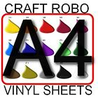 A4 sheets SIGN VINYL for CRAFT ROBO, SILHOUETTE blades decals plotters & cutters
