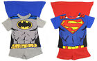 Boys Shorts Sets Batman and Superman Caped Two Colour Styles For Each