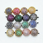 Wholesale AAA cz crystal rhinestone disco round beads Spacer pendant DIY fitting