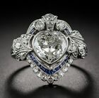 3.45 Ct White Heart Shape Engagement Wedding Bridal Ring 925 Sterling Silver