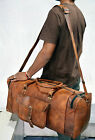 New Men's Real Leather Travel Luggage Garment Duffle Gym Bags Messenger Shoulder