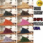 Ultra Super Soft Fleece Plush Luxury BLANKET All Sizes - 6 colors! image