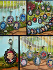 DISNEY CUTE VILLAINS CLIP ON CHARM NECKLACE OR BRACELET MALEFICENT WICKED QUEEN