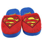 Superman Super Hero Cartoon Plush Slipper Mens Adult Red Blue DC Comics