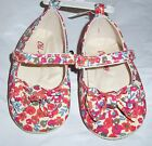 Baby Girl Shoes Size 12 18 months Old Navy Floral Print Bow Mary Janes NEW