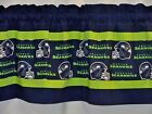 "Seattle Seahawks NFL Football Pieced Custom Valance Choose:40"",52"",80"" x 13"" on eBay"
