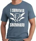 PubliciTeeZ Funny Big and Tall King Size I Survived Sharknado T-Shirt image
