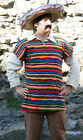 Wild West-Cowboy MEXICAN BANDIT FLEECE TUNIC & SOMBREO & TASH Sizes SML-XXXXL