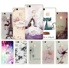 Patterned Rubber Soft TPU Silicone Phone Case Cover for Huawei Ascned P9lite/G9