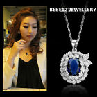 Simulated Sapphire Earring/Necklace/Wedding/Bridal/Bridesmaid/N468/E479