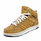 Adidas Neo Hoops Premium Mid Mens Casual Retro Mid Top Trainers Wheat