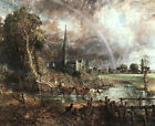 Classic Religous Landscape Art Print: Salisbury Cathedral from the Meadows