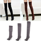 NEW WOMENS OVER THE KNEE HIGH STRETCH HIGH HEEL THIGH HIGH BOOTS SEXY pu boots