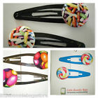 TODDLER/GIRL/ADULT BUTTON SNAP HAIR CLIPS - VARIOUS SWEET LOLLY DESIGNS