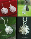 DANDELION SEED WISH BOTTLE CLOCK CHARM GLASS NECKLACE PENDANT