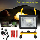 50W 36LED Flood Spotlight Lighting Spot Work Portable Lamp 3*18650+AC/CAR Charge