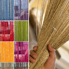 Glitter String Curtain Panels Tassel Fly Screen & Room Divider Net Curtains
