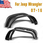 YITA 4PCS Flat Steel Front Rear Fender Flares for 07-16 Jeep Wrangler JK 4Doors