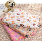 4 Size Cute Warm Pet Bed Mat Cover Towel Handcrafted Cat Dog Fleece Soft Blanket