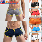8 COLOUR OPTIONS SPORTS SHORTS  MENS SMOOTH TIGHT SWIMMING BOXER TRUNKS