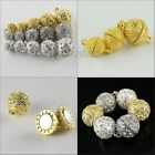 Wholesale Czech Crystal Rhinestone Round Ball Strong Magnetic Connector Clasp