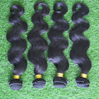 "Body Wave 5A Human Hair Brazilian Virgin Weave Weft Black Extension 400g 10""-26"""