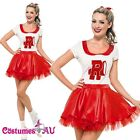 Grease Sandy Costume Licensed 50s Rydell High Cheerleader 1950s Fancy Dress 50's