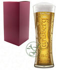 Personalised 1 Pint CARLSBERG Branded Beer Glass Valentines Gift