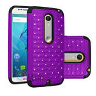 Luxury Shockproof Bling Crystal Rugged Case Cover for Motorola MOTO X Style