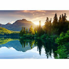 "Vlies Fototapete ""Mountain Lake View"" ! Landschaft Tapete Berge See Sonnenunterg"
