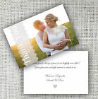 Personalised Photo Wedding Thank You Cards Printed On Front And Back + Envelopes