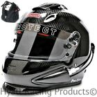 Pyrotect Pro Ultra Tri-Flow Duckbill Racing Helmet SA2015 - All Sizes / Carbon