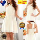 New Cream Girls Party Dress Jr Bridesmaid Dress Formal Girl Dress Size 8 to 16