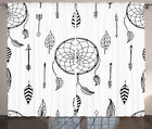 Indian Dreamcatcher Feather and Arrows Western Culture Art Curtain 2 Panels Set