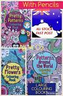 MOTHERS DAY Large Colouring Book &  Pencil Set Complete Artist Travel Relaxation