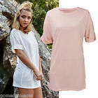 2016 Lady Summer Loose Long T-shirt Short Sleeve Casual Tops Blouse Beach Tee