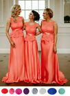 FISHTAIL BRIDESMAID DRESS LONG LACE WEDDING EVENING PROM BACKLESS BALL GOWN MAXI