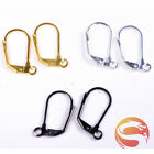 20 Pieces Earring Clasp Hooks Brass Plated Silver Gold Jewelry Making Findings