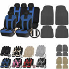UAA All Weather VAN Rubber Mats & Dual-Stitch Racing Polyester Seat Covers Set