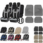 UAA Ultra HD VAN Rubber Mats & Dual-Stitch Racing Polyester Seat Covers Set