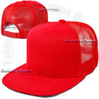 Trucker Mesh Hat Baseball Cap Snapback Plain Adjustable Flat Hip Hop Hats Mens