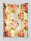 Grundge Style Artsy Floral Motif with Retro Lace Patterns Wall Hanging Tapestry