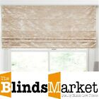 Made To Measure Luxury Ivory Crushed Velvet Roman Blind With Blackout Lining