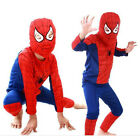 Boys Kids Spiderman Hero Tops  Costume T-shirt+Pants Hat Outfits Set 2-9 Year