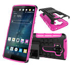 Rugged Hybrid Shockproof Bumper Heavy Duty Kickstand Hard Case Cover For LG G4