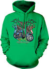 American Ride Motorcycle Red White Blue On Iron Cross 1972 USA Hoodie Sweatshirt