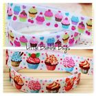 FOE FOLD OVER ELASTIC - CUPCAKES -   PRINTS BY THE METRE